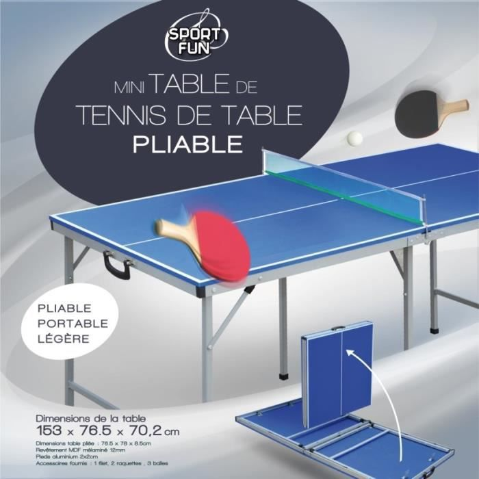 Sport and fun mini table de ping pong achat vente kit tennis de table c - Achat table ping pong ...