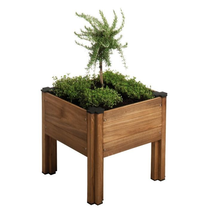 carr potager byo sur lev en h tre 45x45x41 4cm achat vente carr potager table carr. Black Bedroom Furniture Sets. Home Design Ideas