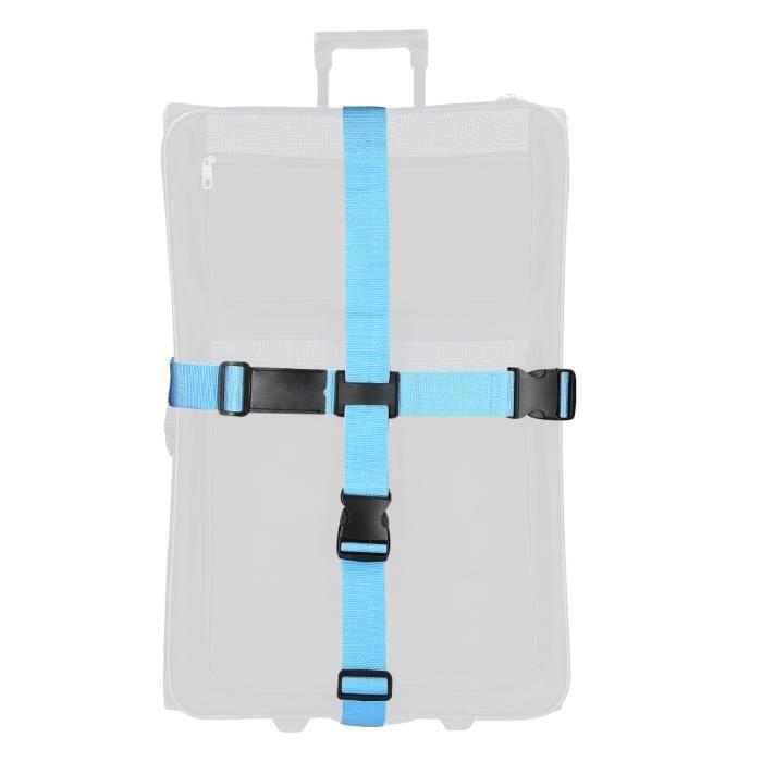 Croix Sangles Bagages Sangle de Voyage Valise Bagage Clipsable/,Blue,20-32 Pouces