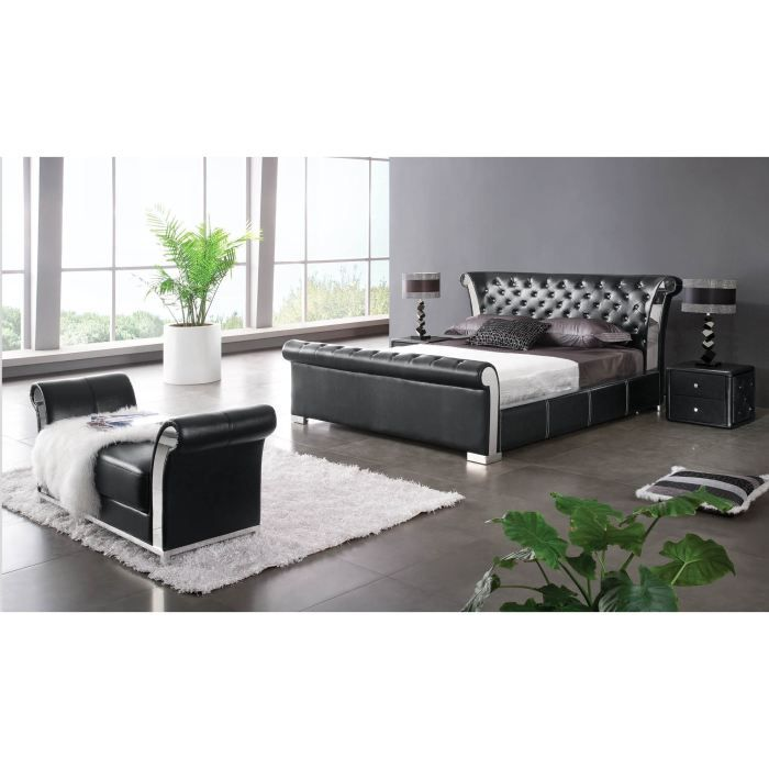 banc bout de lit mariana noir achat vente banc banc bout de lit mariana noir cdiscount. Black Bedroom Furniture Sets. Home Design Ideas