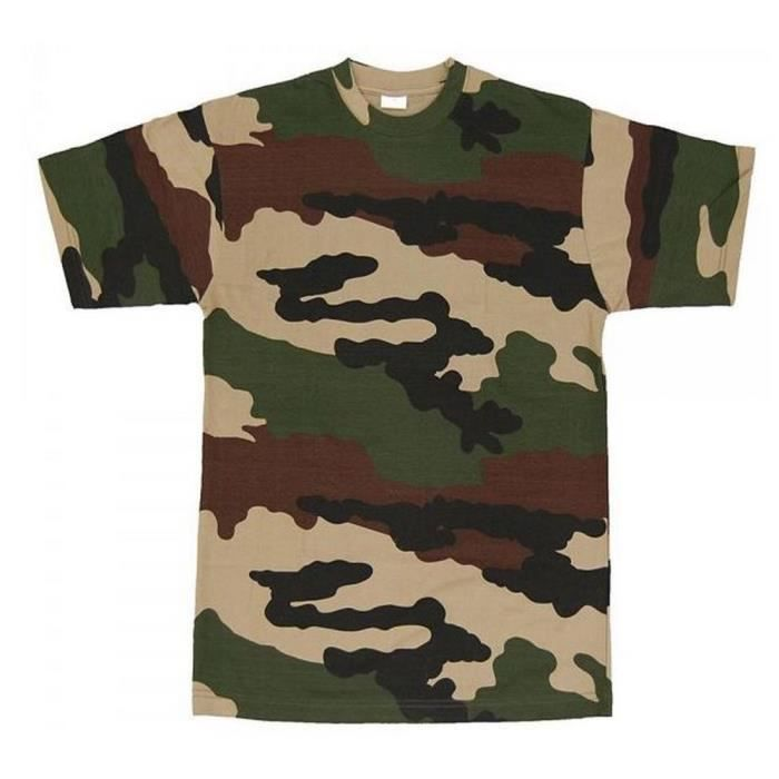tee shirt camouflage kaki vert achat vente t shirt cdiscount. Black Bedroom Furniture Sets. Home Design Ideas
