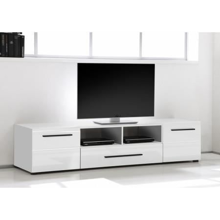 meuble tv design blanc laqu roberto achat vente meuble tv meuble tv desi. Black Bedroom Furniture Sets. Home Design Ideas