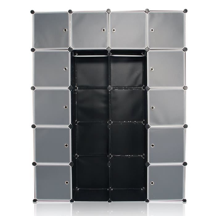 sungle armoire chambre en plastique noir tag re rangement 12 porte multiple armoire rangement. Black Bedroom Furniture Sets. Home Design Ideas