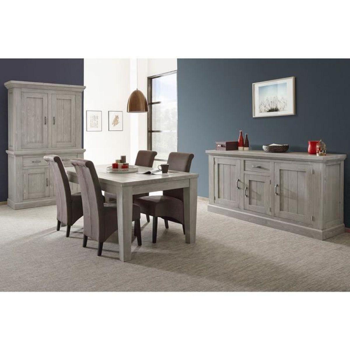 Rehausser Une Table De Salle A Manger table fixe classique 175 cm en bois d'épicéa coloris murano