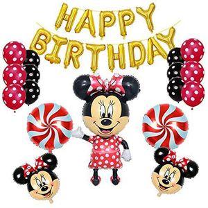 BALLON DÉCORATIF  Fournitures de fête d'anniversaire Minnie Mouse et