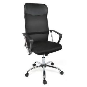CHAISE DE BUREAU Kangfun Fauteuil de bureau en tissu noir, Chaise d