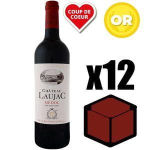 VIN ROUGE X12 Château Laujac 2010 75 cl AOC Médoc Rouge Cru