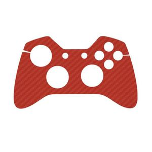 STICKER - SKIN CONSOLE Sticker aspect carbone Rouge pour manette Xbox One