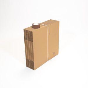 Caisse carton à base carrée en simple cannelure 50x50x40 cm par 20