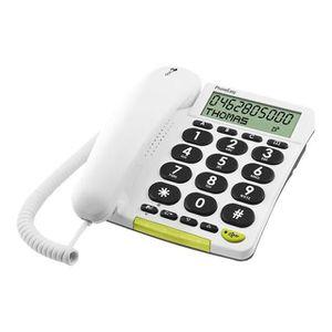 Téléphone fixe Téléphone filaire à grosses touches DORO 312 cs