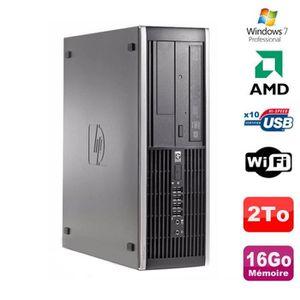 UNITÉ CENTRALE  PC HP Compaq 6005 Pro SFF AMD 3GHz 16Go DDR3 2To S