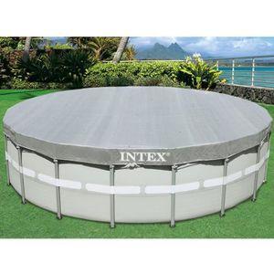 BÂCHE - COUVERTURE  INTEX Bâche pour piscine ronde deluxe 5,49 m