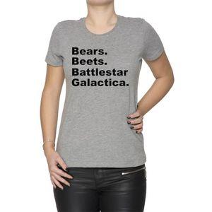 T-SHIRT Bears, Beets, Battlestar Galactica Femme T-Shirt C