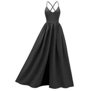 Robe De Soiree Longue Noir Achat Vente Pas Cher Cdiscount