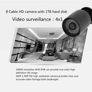 CAMÉRA DE SURVEILLANCE quatre Système vidéo de camérs de sécurité DVR 8CH