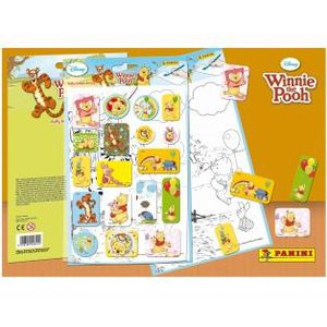 CARTE A COLLECTIONNER Stickers Puffy Et Coloriage Winnie L'ourson