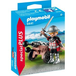 UNIVERS MINIATURE PLAYMOBIL 9441 - Knights - Chevalier avec canon -