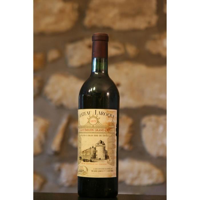 Vin rouge, St Emilion grand Cru, Château Laroque 1972 Rouge