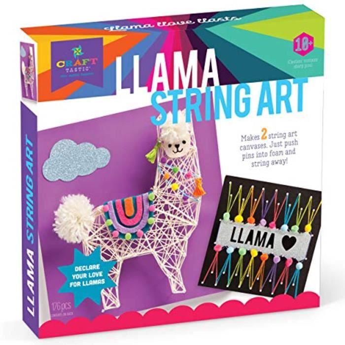 Jeu De Coloriage HH3P9 Artisanat cordes Art Kit Kit Donne 2 Grande chaîne Art Canevas Llama édition
