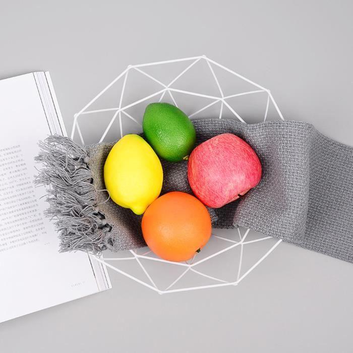 Affichage De Bureau Stockage Cuisine Bol En Métal Panier Fil Légume Fruit Géométrique Zsd90227133Wh_Laisher