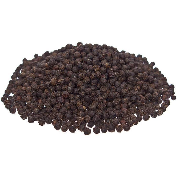 KHLA - Poivre Noir de Kampot Premium IGP - 1 kg - Poivre en Grains - Issu de l'Agriculture Biologique