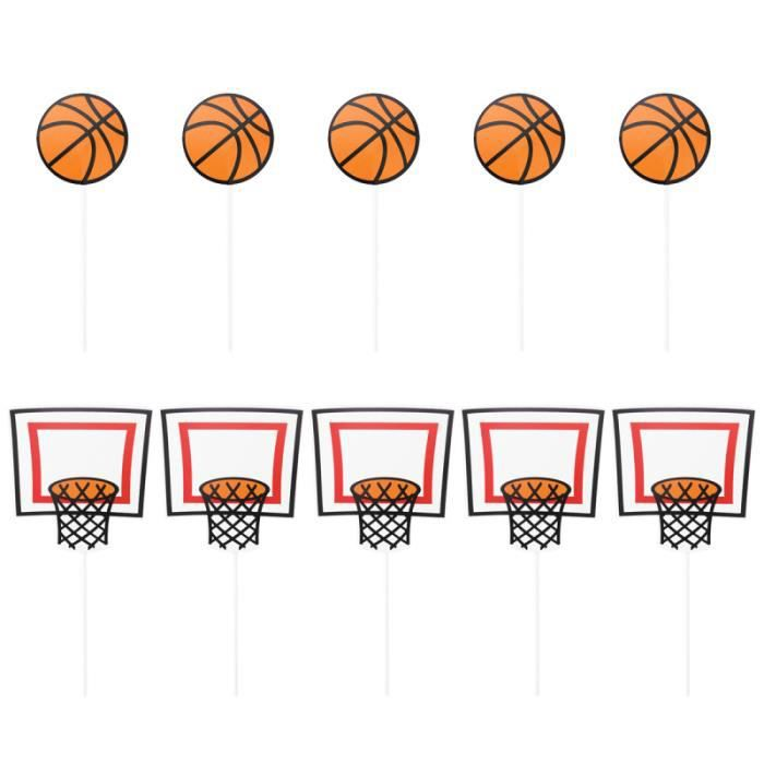10 pièces dessin animé basket-ball décoration de gâteau fête Cupcake Toppers de famille enfants CAKE MOLD - PASTRY MOLD