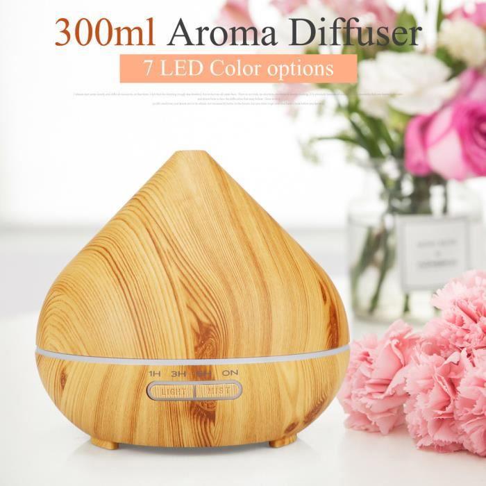 Haute capacité 300ml d'épurateur ultrasonique d'humidificateur d'air de diffuseur à la maison de grain en bois ANO2373