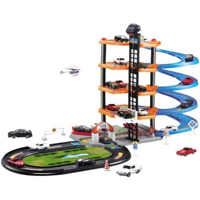 Parking Garage Voiture pour Enfants Grand Circuit Garage 5 Etages Parking Jouet