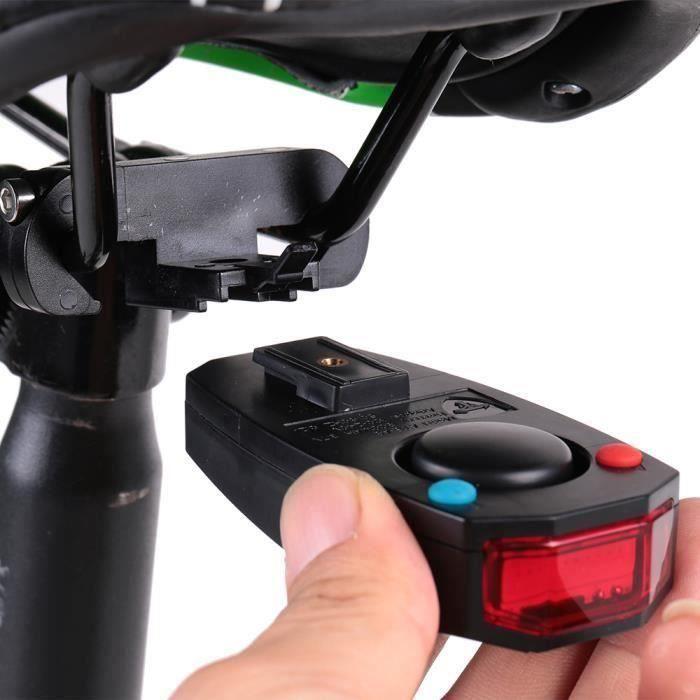 Feux arrière Intelligent Anti-vol Bicyclette Alarme LED Vélo Avertissement électrique Sonnerie Télécommande USB Mixte