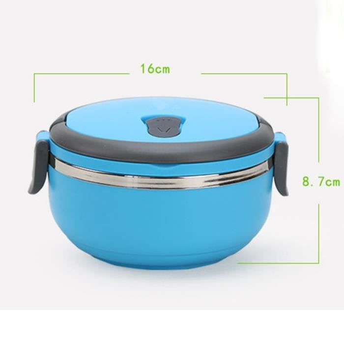 Ustensiles de repas,Boîte à déjeuner Portable en acier inoxydable,Bento Thermos pour enfants,conteneur alimentaire - Type Blue
