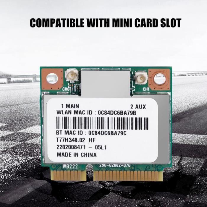 Carte sans fil 2.4G Bluetooth WIFI pour mini logement pour carte PCI-E pour DELL / Asus / Toshiba / BenQ HB014