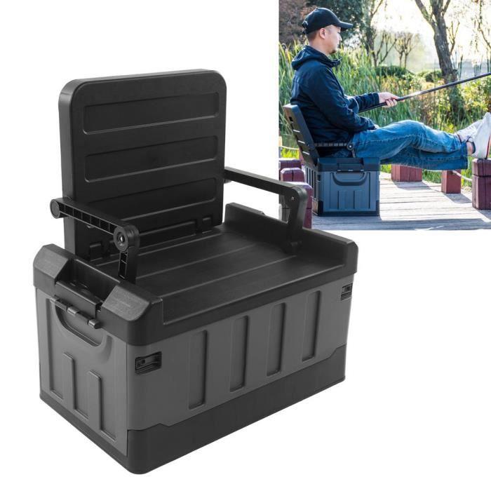 Bac de rangement pliant Boîte de rangement de voiture pliable chaise de réglage 2 en 1 conteneur de coffre noir mat Bon Matériel