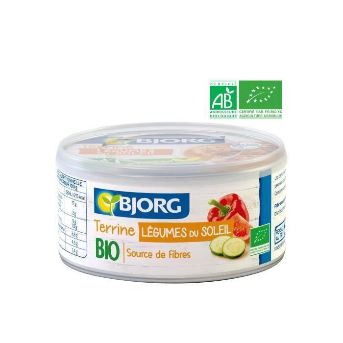 BJORG Terrine Végétale légumes du Soleil Bio 125g