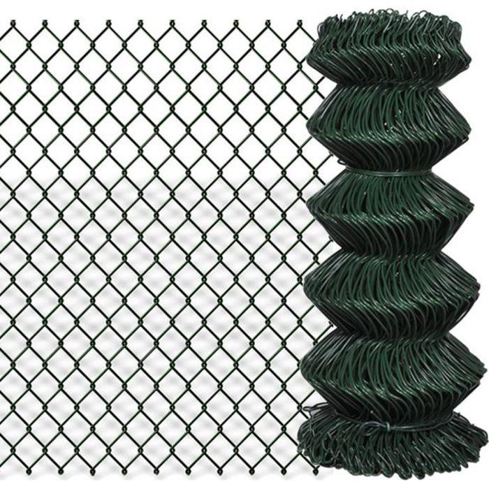 Grillage Vert 0,8 x 25 m en PVC idéale pour Clôture jardins d'animaux Haute qualité Durable
