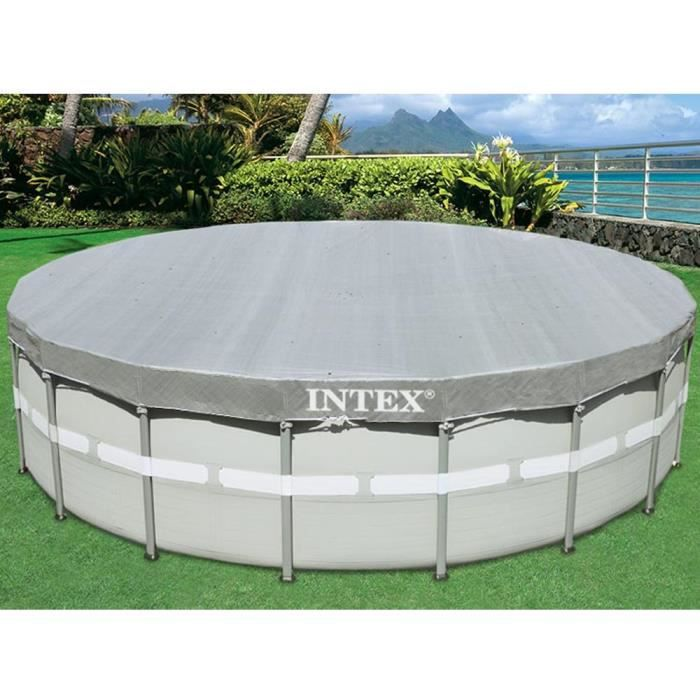 INTEX Bâche pour piscine ronde deluxe 5,49 m
