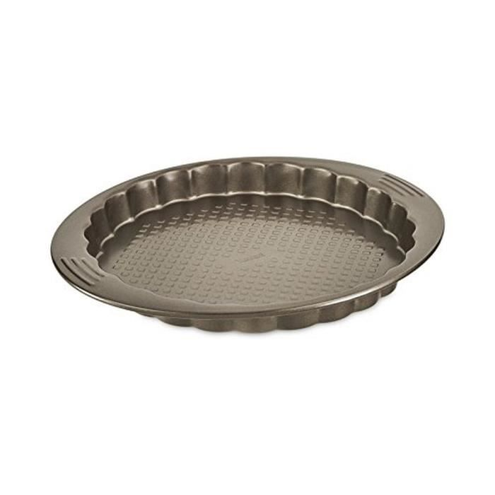 TEFAL EASY GRIP Moule à tarte et cannelé J1628414 diamètre 30 cm marron