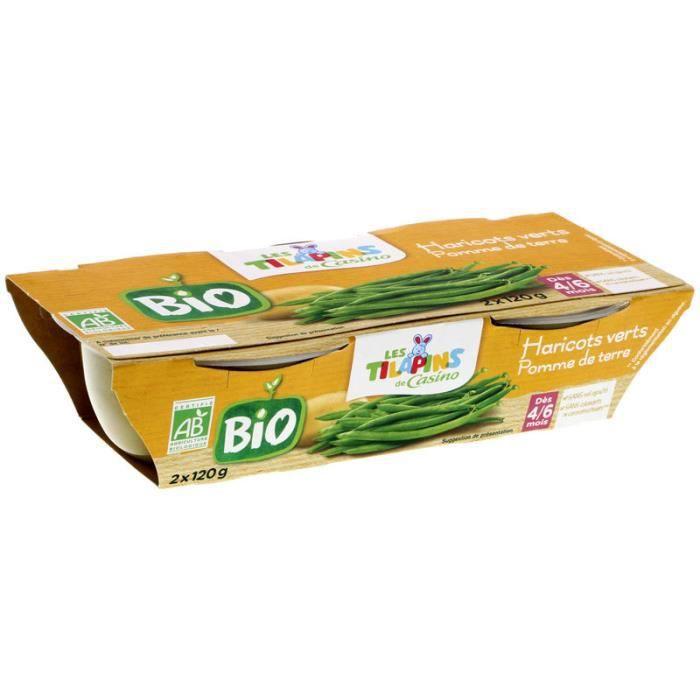 SILL Haricots verts BIO - 2x120 g