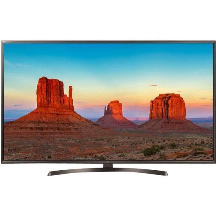 LG 65UK6400PLF Classe 65- TV LED Smart TV webOS, ThinQ AI 4K UHD (2160p) 3840 x 2160 HDR LED à éclairage direct