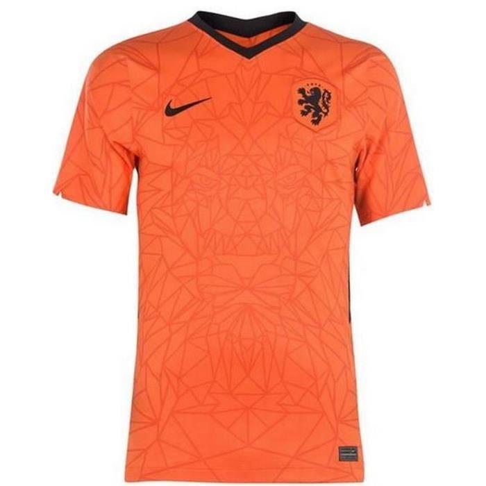 Nouveau Maillot Officiel de Football Enfant Nike Hollande Pays-Bas Domicile Euro 2020