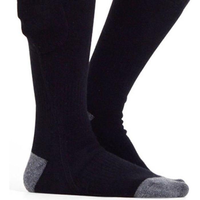 chaussettes chauffantes à batterie rechargeable thermique hiver pour extérieur intérieur