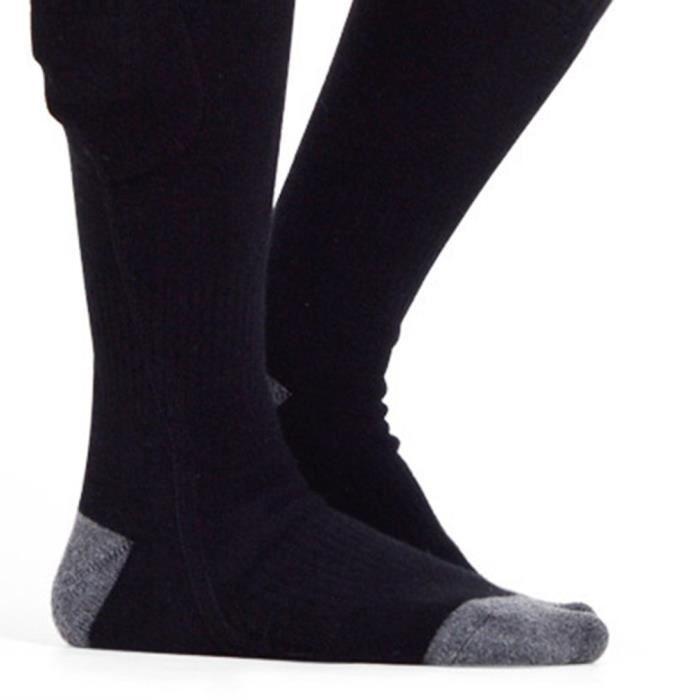chaussettes chaussette thermique à batterie rechargeable pour hommes et femmes chaussettes