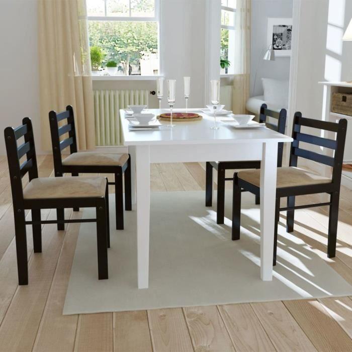 Lot de chaises de salle à manger - Style contemporain Scandinave chaise Cuisine 4 pcs Carrée Bois Marron