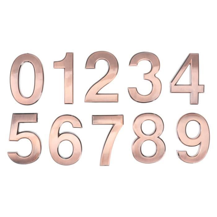 1 ensemble de plaques Number numéro autocollants Numéro de porte de pour l'extérieur four gros appareil de cuisson