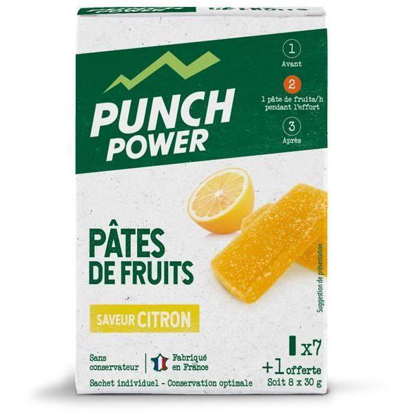 PUNCH POWER Pâtes de fruits Citron - Boite 8 unités