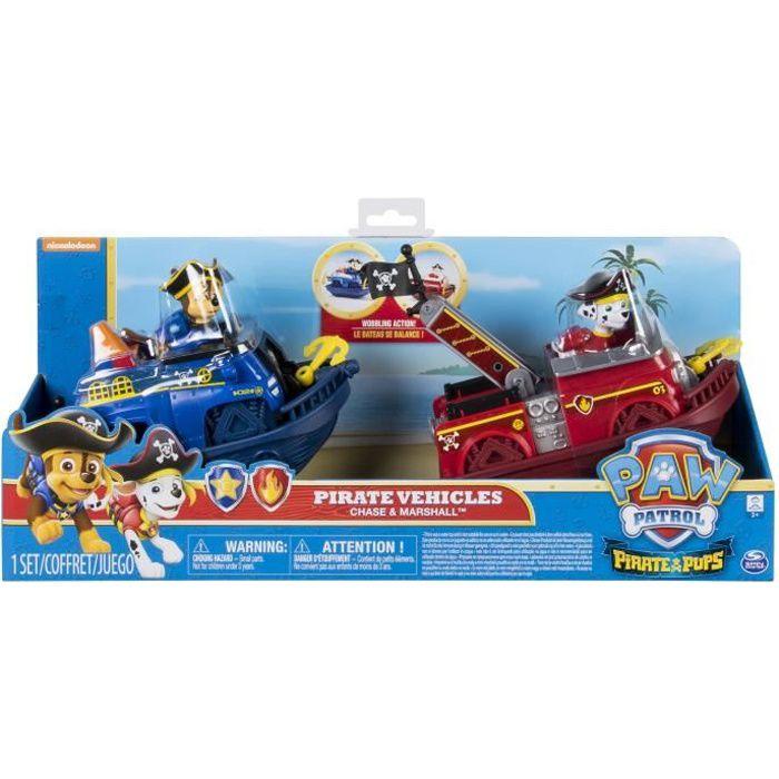PAT PATROUILLE - PACK DE 2 VEHICULES PIRATE Paw Patrol - 6040214 - Jeu jouet enfant à partir de 3 ans