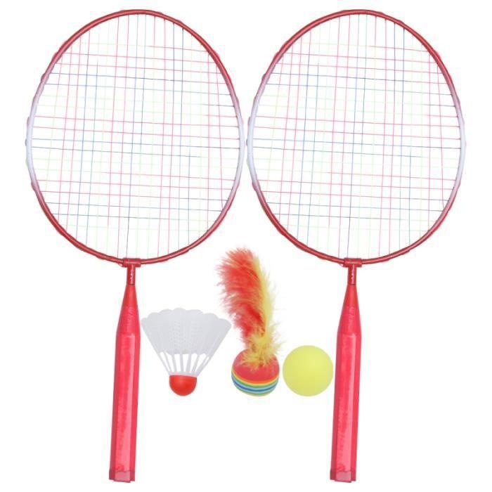 1 ensemble de raquette de badminton drôle portable durable jouets de loisirs RAQUETTE DE BADMINTON - CADRE DE BADMINTON