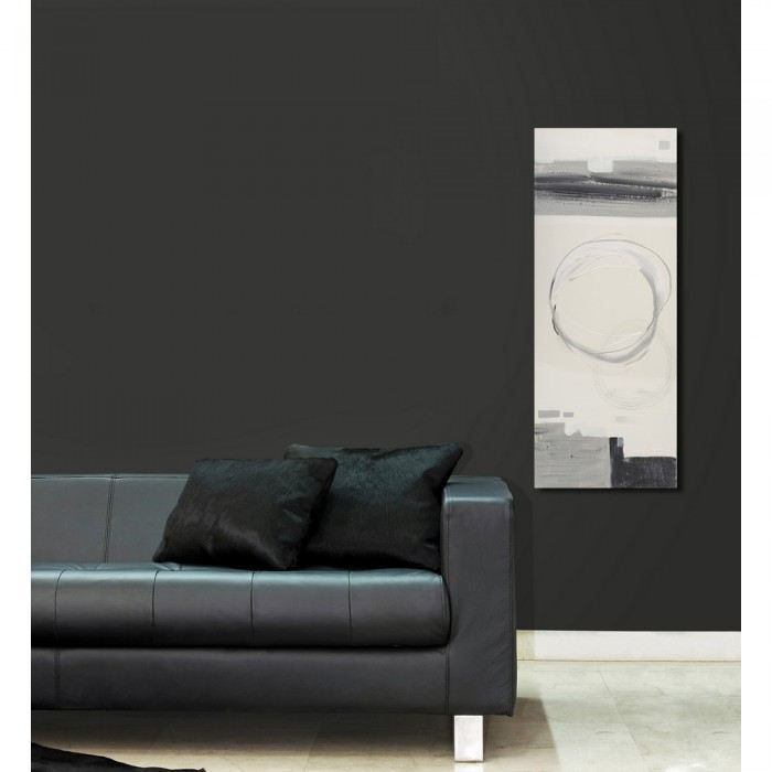 Tableau Peint La Main Black And White Circle Achat