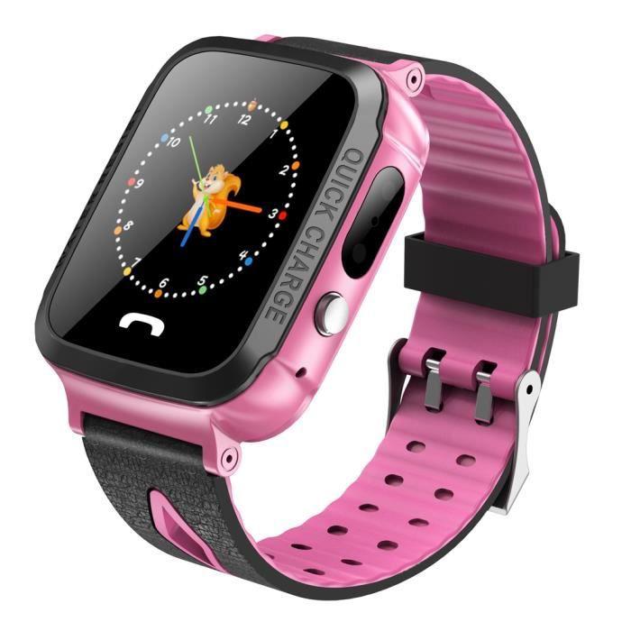 BATT. MONTRE CONNECTÉE BOYOU GPS Montre enfant intelligent 1.44 '' montre
