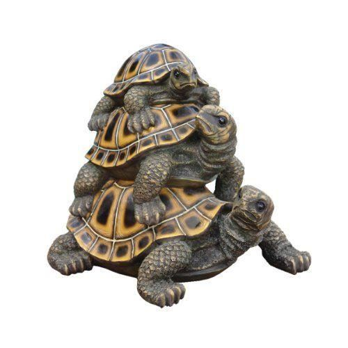 Design toscano by blagdon ql56360 statue de trois tortues for Statue de jardin design