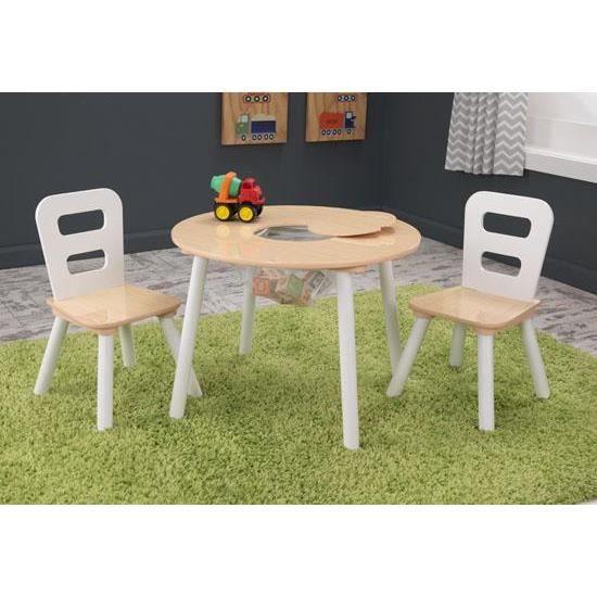 Table Ronde 2 Chaises En Bois Design Pour Enfant Achat Vente